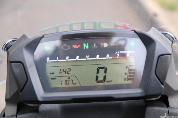 Kontrollleuchten Honda NC700X